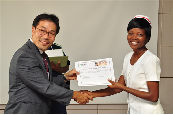Scholarship Awards Ceremony in Daeyang College of Nursing, Malawi